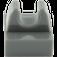 LEGO Dark Stone Gray Tile 1 x 1 with Clip (No Cut in Center) (2555 / 12825)