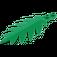 LEGO Green Small Palm Leaf 8 x 3 (6148)