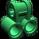 LEGO Green Technic Cross Block with Two Pinholes (32291)