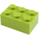LEGO Lime Brick 2 x 3 (3002)