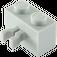 LEGO Medium Stone Gray Brick 1 x 2 with Vertical Clip (Gap in Clip) (30237)