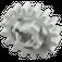 LEGO Medium Stone Gray Gear with 16 Teeth (Reinforced) (94925)