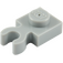 LEGO Medium Stone Gray Plate 1 x 1 with Vertical Clip (Thick Open 'O' Clip) (4085 / 44860)