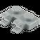 LEGO Medium Stone Gray Plate 1 x 2 with Horizontal Clips (Open 'O' Clips) (49563 / 60470)