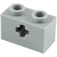 LEGO Medium Stone Gray Technic Brick 1 x 2 with Axle Hole (Old Style with '+' Opening) (31493 / 32064)