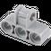 LEGO Medium Stone Gray Technic Cross Block 3 x 2 (Axle/Triple Pin) (42191 / 63869)