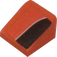 LEGO Orange Slope 31° 1 x 1 with Black Side Stripe (Right) Sticker