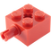 LEGO Red Brick 2 x 2 with Pin and Axlehole (6232)