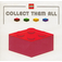 LEGO Red Collect Them All Promotional Sticker