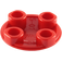 LEGO Red Round Plate 2 x 2 with Rounded Bottom (2654 / 93791)