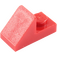 LEGO Red Slope 1 x 2 (45°) with Plate (15672 / 92946)