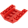 LEGO Red Slope 4 x 4 (45°) Double Inverted with Open Center (No Holes) (4854)