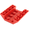 LEGO Red Slope 45° 4 x 4 Double Inverted with Open Center (No Holes) (4854)
