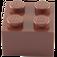 LEGO Reddish Brown Brick 2 x 2 (3003)