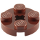 LEGO Reddish Brown Round Plate 2 x 2 with Axle Hole (with '+' Axle Hole) (4032)