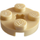 LEGO Tan Plate 2 x 2 Round with Axle Hole (with '+' Axle Hole) (4032)