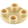 LEGO Tan Round Plate 2 x 2 with Rounded Bottom (2654)