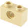 LEGO Tan Technic Brick 1 x 2 with Hole (3700)