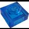 LEGO Transparent Dark Blue Plate 1 x 1 (3024 / 28554)