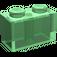 LEGO Transparent Green Brick 1 x 2 (3004)