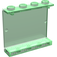 LEGO Transparent Green Panel 1 x 4 x 3 without Side Supports, Solid Studs (4215)