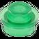 LEGO Transparent Green Round Plate 1 x 1 (30057 / 34823)