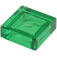 LEGO Transparent Green Tile 1 x 1 with Groove (3070 / 30039)