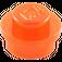 LEGO Transparent Neon Reddish Orange Plate 1 x 1 Round (30057 / 34823)