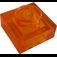 LEGO Transparent Orange Plate 1 x 1 (28554 / 30008)