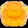 LEGO Transparent Orange Plate 1 x 1 Round (30057 / 34823)