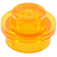 LEGO Transparent Orange Round Plate 1 x 1 (30057 / 34823)