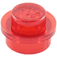 LEGO Transparent Red Round Plate 1 x 1 (6141 / 30057 / 34823)