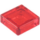 LEGO Transparent Red Tile 1 x 1 with Groove (3070 / 30039)