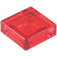 LEGO Transparent Red Tile 1 x 1 with Groove (3070 / 30039 / 35403)