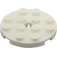 LEGO White Plate 4 x 4 Round with Hole and Snapstud (60474)