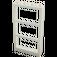 LEGO White Window 1 x 4 x 6 Frame with Three Panes (46523 / 57894)