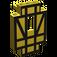 LEGO Yellow Panel 2 x 5 x 6 Wall with Black Half-Timber