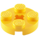 LEGO Yellow Round Plate 2 x 2 with Axle Hole (with '+' Axle Hole) (4032)